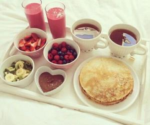 food, fruit, and nutella image