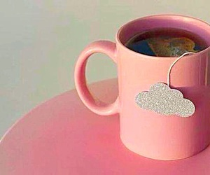 clouds, pink, and tea image