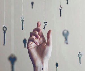 key, hand, and tattoo image