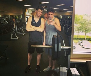 shawn mendes, charlie puth, and gym image