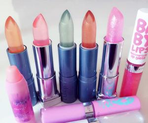 makeup, lipstick, and lips image