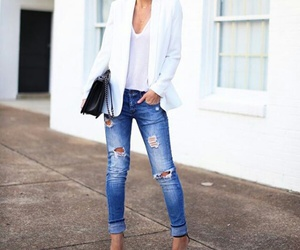 casual, outfits, and red lips image