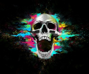 skull colorful image