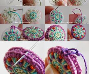 diy yarn hanging ornament image