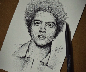 drawing, bruno mars, and fineliner art image