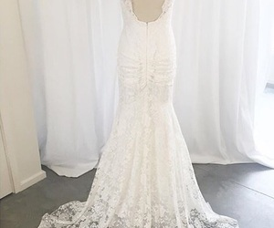 wedding dress, white lace, and fgb image