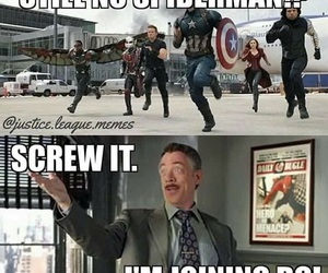 Marvel, spider-man, and j.k. simmons image