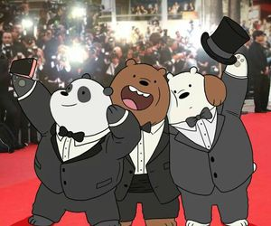 we bare bears, chloe, and ice bear image