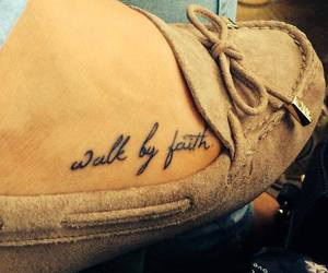 by, faith, and foot image