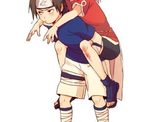 naruto, sasusaku, and sakura image