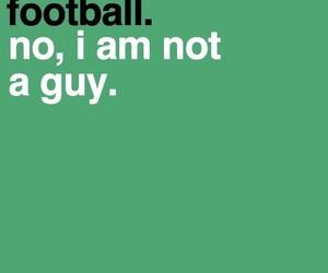 football, girl, and guy image