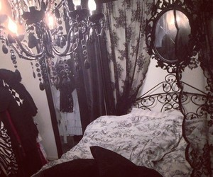 room, gothic, and black image