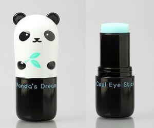 lipstick, panda, and cute image