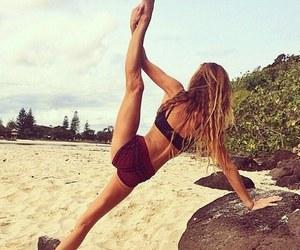 fitness, beach, and beautiful image