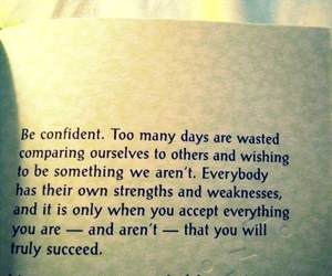 quote, confident, and life image
