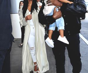 family, kanye west, and kim kardashian image