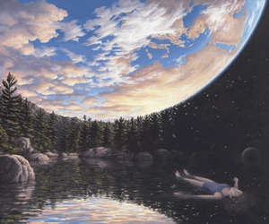 art, earth, and sky image