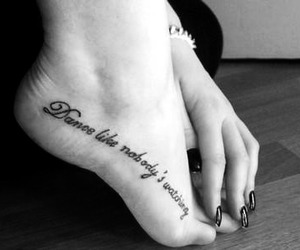 black and white, feet, and foot tattoo image
