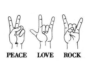 life, peace, and rock n roll image