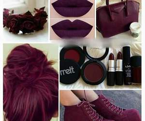 maroon, burgundy, and hair image