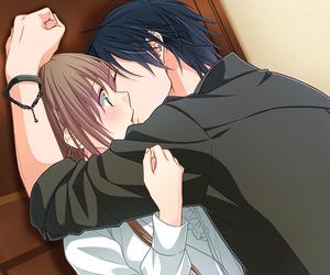 anime, boy, and kiss image