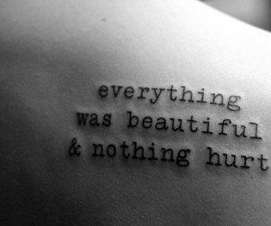 beautiful, hurt, and tattoo image