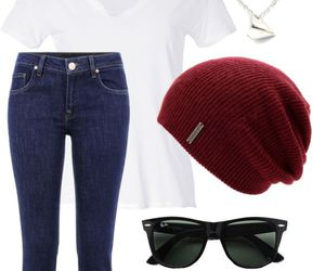 outfit, converse, and beanie image