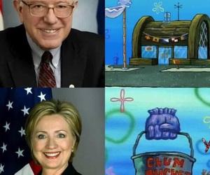 Hillary Clinton, spongebob, and spongebob squarepants image