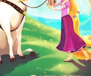 rapunzel, tangled, and princess image