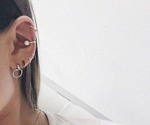 earrings, hoops, and Piercings image