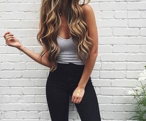 fashion, girl, and hair image