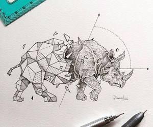 art, drawing, and animal image