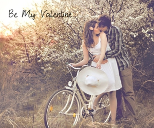 bicycles, couple, and cuddle image