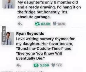 funny, lol, and ryan reynolds image