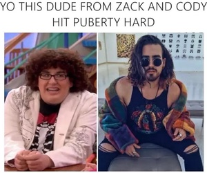 puberty, zack and cody, and funny image