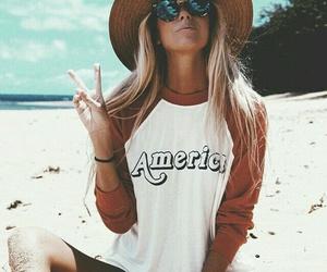 beach, summer, and america image