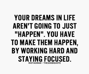 quote, dreams, and focus image