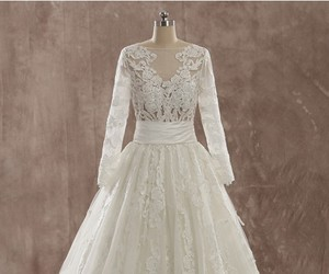 ivory, long sleeve, and tulle image
