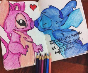love, stitch, and pink image