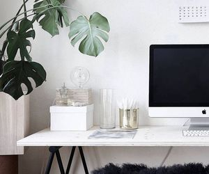 home, interior, and desk image