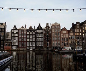 aesthetic, boats, and amsterdam image