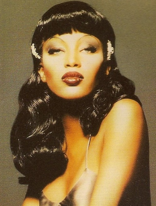 Naomi Campbell, model, and vintage image