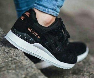 shoes, black, and asics image