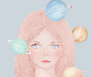 girl and universe image