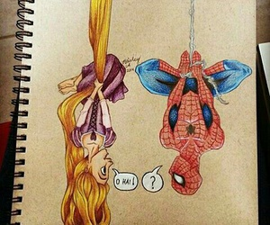 spiderman, rapunzel, and disney image