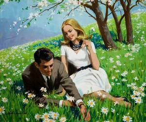 couple, love, and painting image