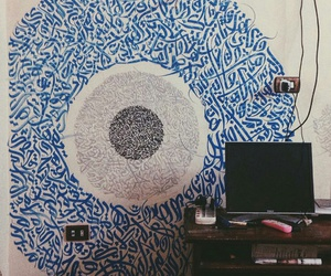 arabic, calligraphy, and wall image