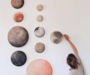 art, planet, and moon image