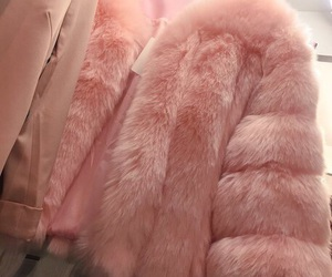 pink, fur, and coat image