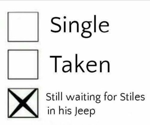 stiles, single, and teen wolf image